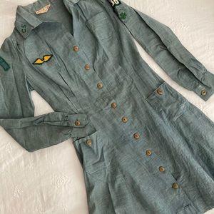 Vintage 1960's Girl Scout Uniform